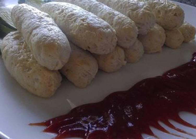 Домашние сосиски из курицы.Самый простой рецепт домашних сосисок