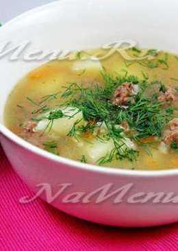 Суп с мясными фрикадельками и рисом в мультиварке
