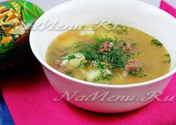 суп с фрикадельками с рисом в мультиварке рецепт с фото