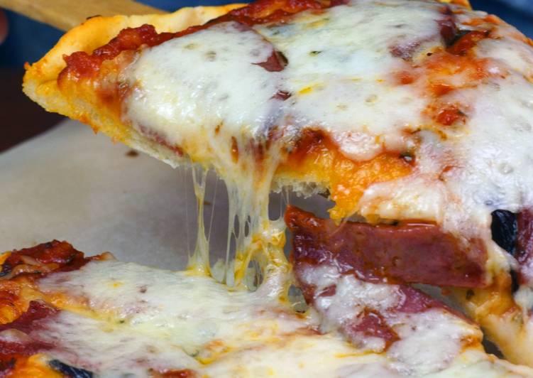 Рецепт пиццы тонкое тесто