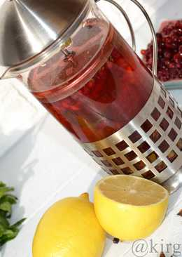 Брусничный чай с иван-чаем