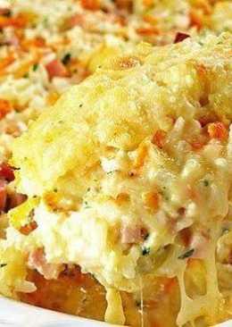Сырно-рисовая запеканка
