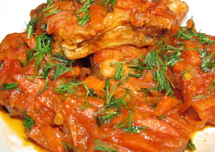 Рыба в томатном соусе или по-гречески