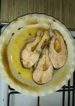 Сёмга в духовке #кулинарныймарафон