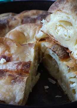 Настоящая сербская пита, слоёный пирог с сыром из вытяжного теста