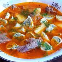 Немецкий суп со штрулями#чемпионатмира #германия