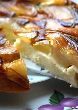 Творожный пирог-запеканка с карамельной грушей (в мультиварке)