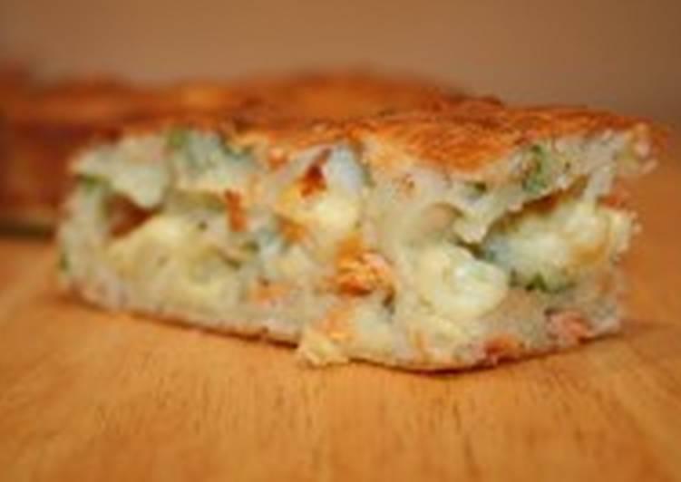 Скорый «пирог» из фарша и картофеля