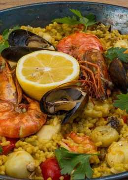 Паэлья с морепродуктами, рецепт с фото