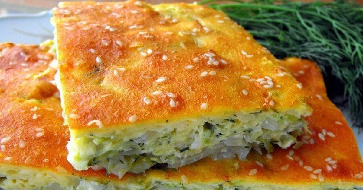 пирог домашний с капустой