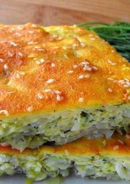 Бездрожжевой пирог с капустой