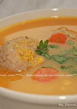 Суп-пюре из тыквы с фрикадельками#кулинарныймарафон