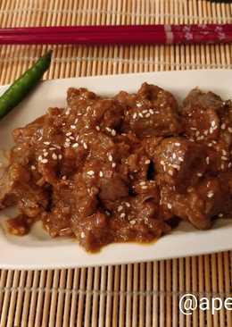 Говяжья печень по-корейски