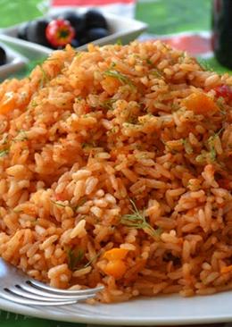 Рис с томатной пастой