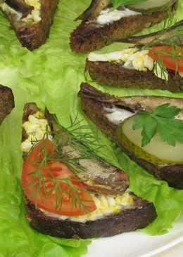 Обалденные бутерброды со шпротами. Секрет удивительного вкуса. Закуска на праздничный стол