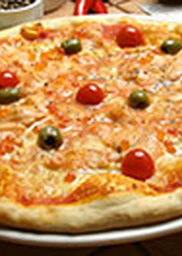 Пицца с икрой и семгой «Изысканная»