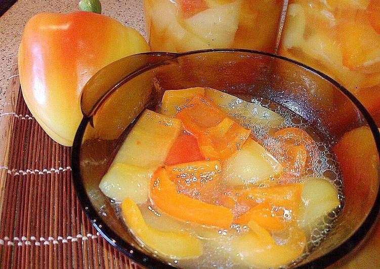 перец маринованный с медом на зиму с фото