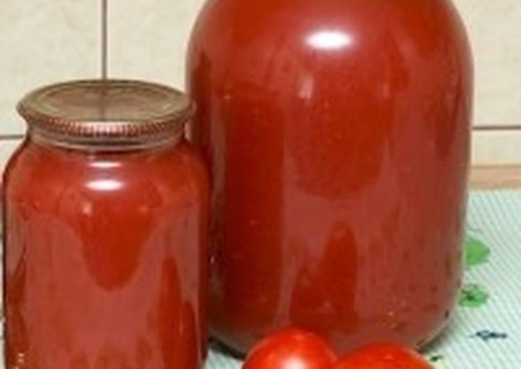 Яблочно-томатный сок с мякотью