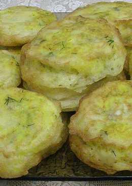 Ленивые пирожки или оладушки с начинкой