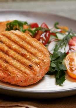 Рыбные котлетки на гриле (диетический обед)