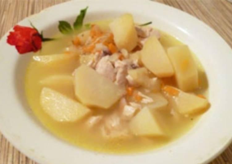 Курица с картофелем по-татарски
