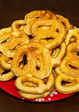 Домашнее песочное печенье - крендельки - простой рецепт