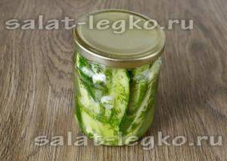 Салат из огурцов «Дамские пальчики»