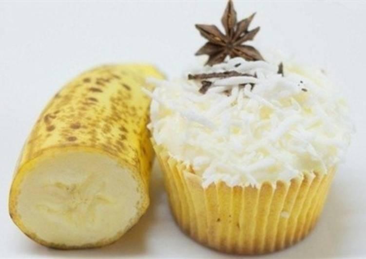 Кексы ванильные с бананом
