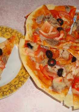 Пицца с мясом. Правильное тесто для пиццы