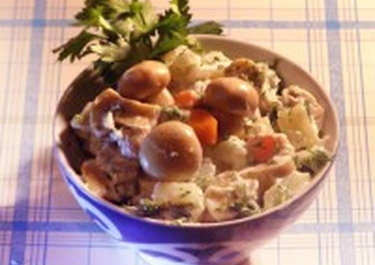 Салат по-французски с мясом