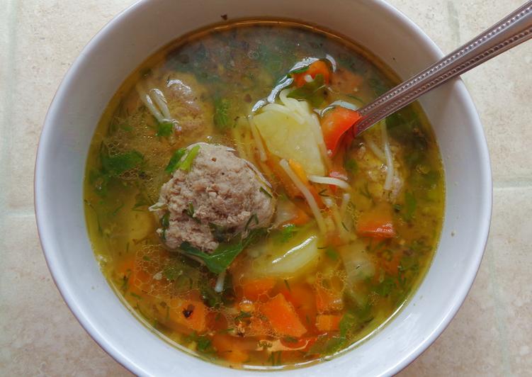 Суп с фрикадельками пошаговый рецепт с болгарским перцем