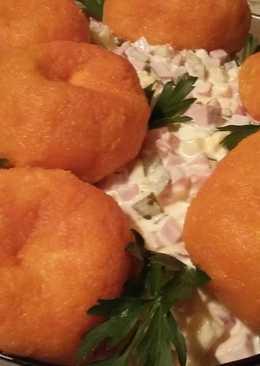"Новогодний салат ""Оливье-мандарин"""