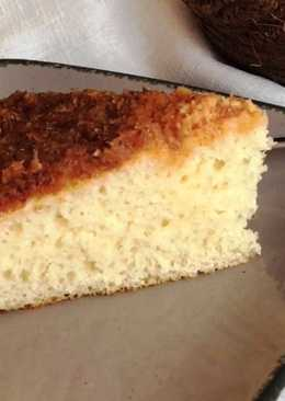 Нежный кокосовый пирог со сливками