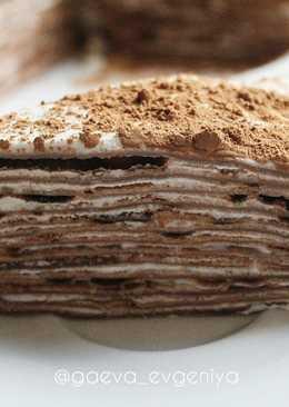 Блинный торт с творожным кремом!