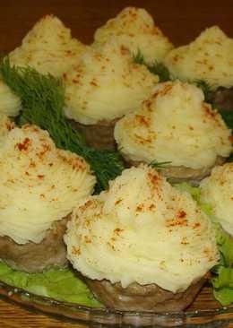 Мясные капкейки (кексы) с начинкой - горячее блюдо или закуска