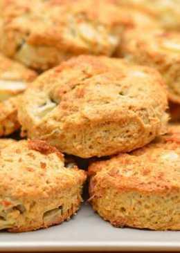Яблочные сконы - английские булочки к чаю