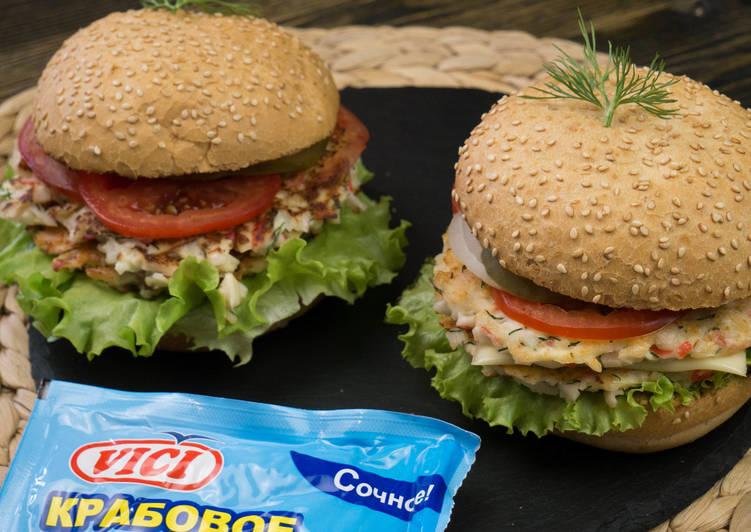 Гамбургер из крабового мяса
