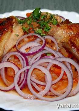 Цыпленок и тушёная капуста