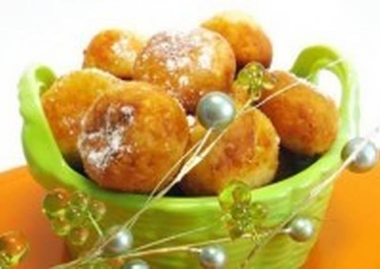 Пончики творожные с начинкой из кураги