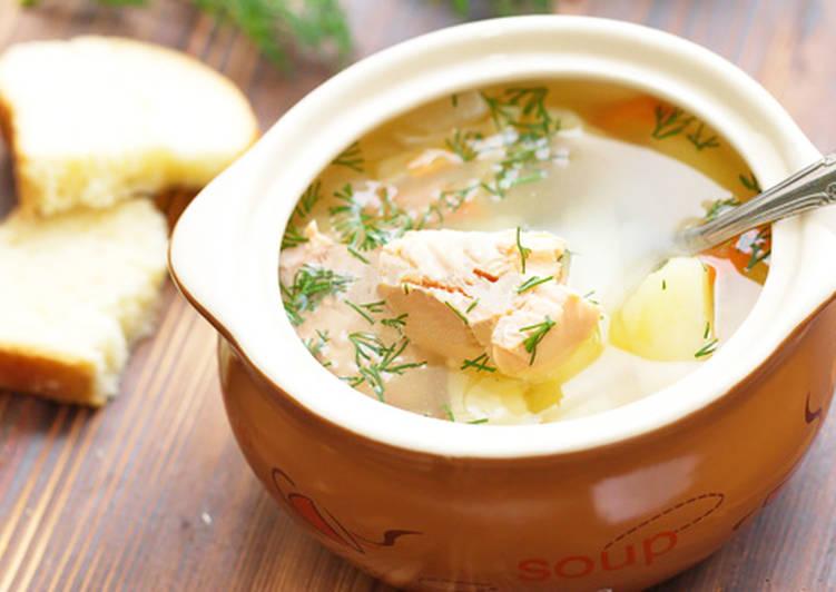 Суп из красной рыбы - Уха из форели