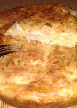 """Пирог с куриной грудкой и сыром на """"скорую руку"""""""