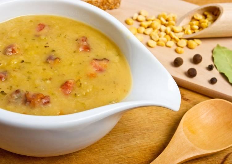 Суп с горохом и копченостями