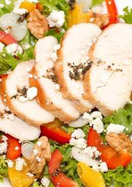 Очень вкусный Летний салат из курицы с итальянским соусом. Без майонеза