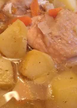 Курица с картошкой, холостяцкий рецепт