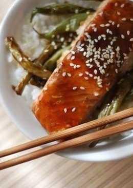 Рыба в сладком медовом соусе терияки