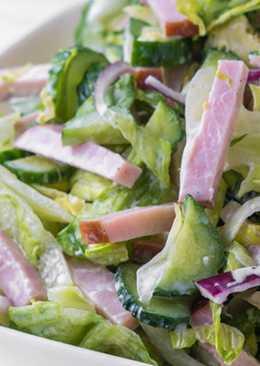 Вкусный и легкий салат с колбасой за 5 минут