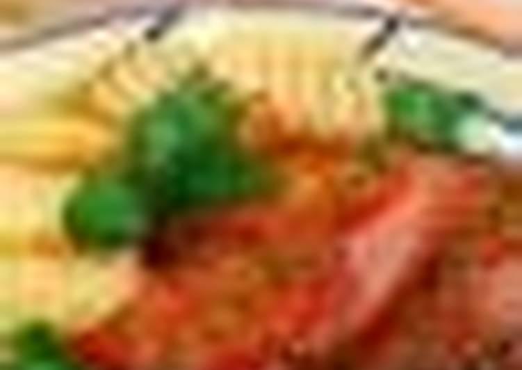Окорок жареный с помидорами