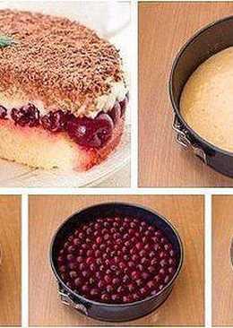 """Быстрый вишневый пирог """"наслаждение"""""""