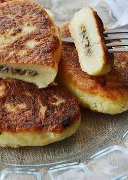 картофельные зразы с грибами постные рецепт с фото