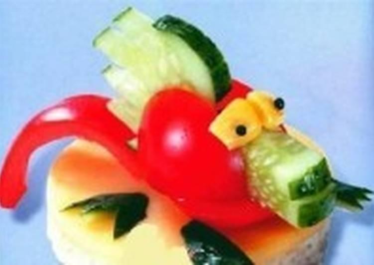 Бутерброды новогодние «Дракон»